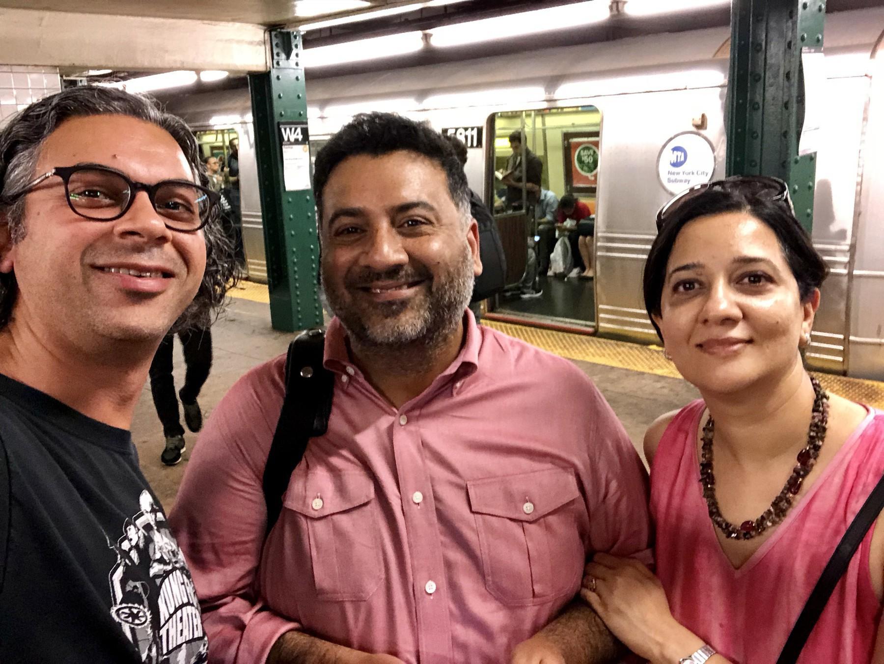 With Ashish and Manisha. New York City. September, 2018.